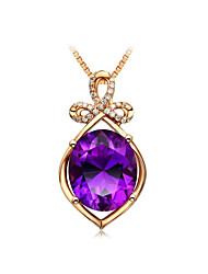 Недорогие -Жен. Фиолетовый Ожерелья с подвесками геометрический «Груша» Мода Медь Лиловый 50 cm Ожерелье Бижутерия 1шт Назначение Подарок Повседневные