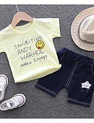 cheap -Baby Girls' Active Daily Geometric / Print Short Sleeve Regular Clothing Set Fuchsia / Toddler