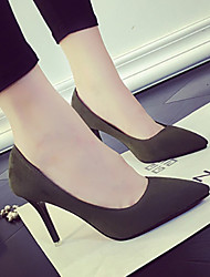 cheap -Women's Heels Pumps Plus Size Stiletto Heel Daily Suede Black / Army Green / Gray