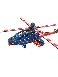 cheap -3D Puzzle Jigsaw Puzzle Model Building Kit Helicopter DIY Wooden 1 pcs Classic Kid's Adults' Toy Gift