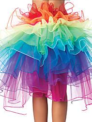 Недорогие -Детская одежда для танцев Юбки Комбинация материалов Девочки Выступление На каждый день Рукава до локтя Заниженная талия Полиэфир