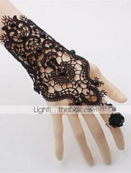 cheap -Women's Vintage Bracelet Ring Bracelet / Slave bracelet Cut Out Flower Precious Vintage Lace Bracelet Jewelry Black For Wedding Party Halloween Holiday Festival
