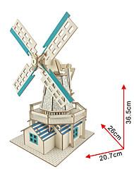 abordables -Petites Voiture / Jouet à Energie Solaire / Puzzles 3D Moulin à vent Solaire / A Faire Soi-Même En bois Classique Enfant Cadeau