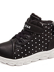 Недорогие -Девочки Удобная обувь Полиуретан Спортивная обувь Большие дети (7 лет +) Беговая обувь Черный / Розовый Осень