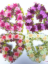 cheap -Artificial Flower Heart-shaped Garland Wedding Wedding Decoration Decoration Love Garland 1 Stick