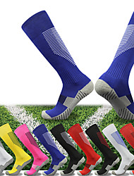 cheap -Athletic Sports Socks Running Socks 1 Pair Tube Socks Socks Compression Socks Breathable Sweat-wicking Comfortable Running Active Training Jogging Sports Color Block 100% Cotton Red and White Black