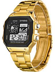 Недорогие -SYNOKE электронные часы Цифровой Спортивные Стильные 30 m Защита от влаги Календарь ЖК экран Цифровой На открытом воздухе Мода - Золотой Серебряный