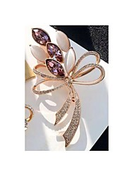 cheap -Women's Cubic Zirconia Brooches Hollow Out Butterfly Stylish Brooch Jewelry Purple Blue For Christmas Daily