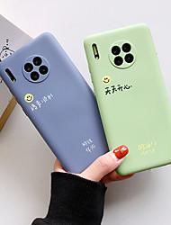 Недорогие -Кейс для Назначение Huawei Huawei P30 / Huawei P30 Pro / Мате 30 Защита от удара / Ультратонкий Кейс на заднюю панель Слова / выражения / Однотонный / Мультипликация ТПУ