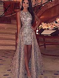 Недорогие -Жен. Макси С летящей юбкой Платье - Без рукавов Однотонный Серебряный S M L XL XXL