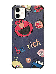 cheap -Case for Apple scene map iPhone 11 11 Pro 11 Pro Max X XS XR XS Max 8 Cartoon pattern Strong relief Silk pattern Skin Thicken TPU Texture Four corners Anti-fall All-inclusive phone case