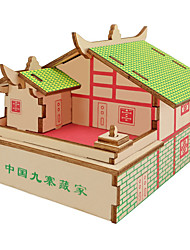 cheap -3D Puzzle / Jigsaw Puzzle / Wooden Model Plane / Aircraft / Famous buildings / House DIY Wooden Classic Kid's Unisex Gift