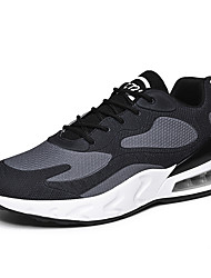 cheap -Men's Light Soles Tissage Volant Spring & Summer Sporty Athletic Shoes Running Shoes Breathable Color Block Black / White / Red