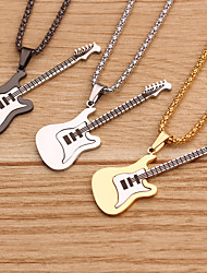 cheap -Men's Pendant Necklace Classic Mini Simple Stainless Steel Black Gold Silver 60 cm Necklace Jewelry 1pc For Daily