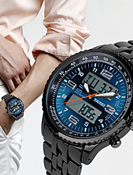 cheap -Men's Sport Watch Digital Outdoor Water Resistant / Waterproof Analog - Digital Black / Blue Black / Two Years / Japanese / Stopwatch / Noctilucent / Japanese