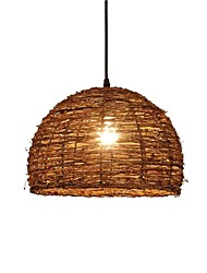 cheap -1-Light QIHengZhaoMing 34 cm Eye Protection Pendant Light Wood / Bamboo Wood / Bamboo Vintage 110-120V / 220-240V