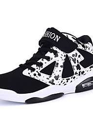 cheap -Women's Athletic Shoes Flat Heel Round Toe PU Running Shoes Fall & Winter Black / Gold / Black / White / Color Block