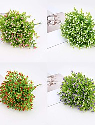 cheap -5 Fork Artificial Flower Milan Grain Potted Plant Interior Decoration Flower Arrangement 2 Sticks