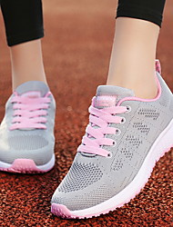 cheap -Women's Athletic Shoes Flat Heel Round Toe Mesh Running Shoes Fall & Winter Black / White / Blue