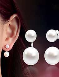 cheap -Women's Pearl Earrings Classic Music Notes Stylish Artistic Luxury Trendy Korean Platinum Plated Gold Plated Earrings Jewelry Silver For Christmas Gift Daily Work Festival 1 Pair