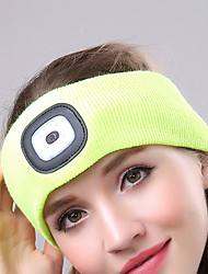 cheap -LED Beanie Hat with Light LED 4 Emitters with Battery and USB Cable Portable Adjustable Durable Camping / Hiking / Caving Cycling / Bike Hunting USA White Light Source Color Black Yellow Red
