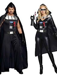 cheap -Warrior Cosplay Costume Adults' Men's Cosplay Halloween Halloween Festival / Holiday Polyester Black / Gray Men's Women's Carnival Costumes / Leotard / Onesie / Gloves / Cloak