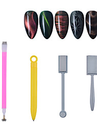 cheap -4pcs Nail Art Magnet Stick Cat Eyes Magnet for Nail Gel Polish 3D Line Strip Effect Strong Magnetic Pen Tools for Gel Varnish Manicure Tools