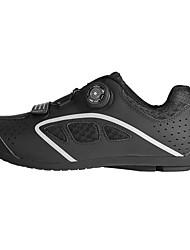 cheap -BOODUN Adults' Bike Shoes Road Bike Shoes Breathable Anti-Slip Mountain Bike MTB Road Cycling Cycling / Bike Black Black / Green Men's Women's Cycling Shoes