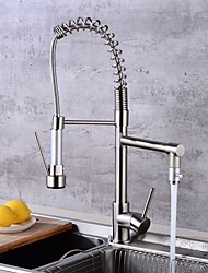 cheap -Kitchen faucet - Single Handle One Hole Electroplated Pull-out / Pull-down / Tall / High Arc Centerset Contemporary Kitchen Taps