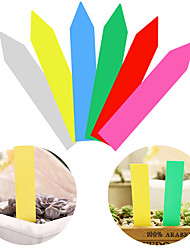 cheap -100 PCS Reusable PVC Plants Hang Tag Labels Tree Fruits Seedling Garden Flower Pot Plastic Tags Sign Classification Tools