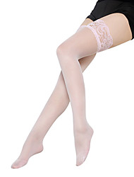 cheap -Women's Thin Stockings - Lace / Fashion 15D Purple Red Beige One-Size