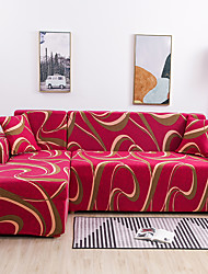 abordables -Housse de canapé extensible tout-puissant à imprimé linellae étanche à la poussière Housse de canapé en tissu super doux avec une taie d'oreiller gratuite