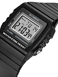 cheap -Men's Sport Watch Digital Stylish Stainless Steel Black 50 m Water Resistant / Waterproof Chronograph Alarm Clock Digital Casual Outdoor - Black White Blue Two Years Battery Life
