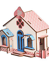 cheap -3D Puzzle Jigsaw Puzzle Building Toy Famous buildings House Wooden Natural Wood Unisex Toy Gift