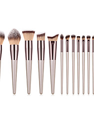 cheap -Miyaup 14 champagne gold fashion powder brush special makeup brush unique makeup brush set