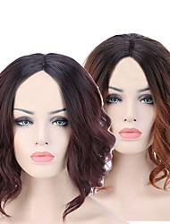 cheap -Synthetic Wig Curly kinky Straight Asymmetrical Wig Short Long Light Brown Brown Synthetic Hair 7 inch Women's Best Quality Dark Brown Light Brown