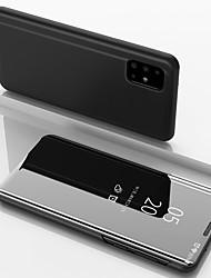 Недорогие -чехол для samsung galaxy a91 / a81 / a71 / a51 роскошный умный ясный вид зеркало зеркальный стенд телефон чехол для samsung galaxy a90 / a80 / a70s / a70 / a60 / a50 / a50s / a40 / a40s