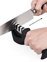 Недорогие -точилка для ножей 3 этапа профессиональная кухня заточки камень точильщик ножи точильный камень вольфрам алмазный керамический точилка инструмент