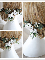 cheap -Dried Flower Hair Accessory with Floral 4 Pieces Wedding / Party / Evening Headpiece