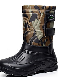cheap -Men's Comfort Shoes Suede Winter Boots Booties / Ankle Boots Black / Army Green / Blue