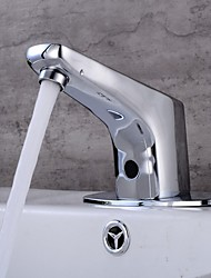 cheap -Bathroom Sink Faucet - Touch / Touchless Electroplated Free Standing Single Handle One HoleBath Taps
