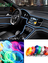 cheap -5M/lot Flexible Car Interior Lighting LED Strip Garland Wire Rope Tube Line Neon Light With Cigarette Drive controller 8 colors 12v