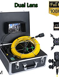cheap -F7PD-2C-30M 7inch DVR 30M 1080P HD Dual Camera Lens Drain Sewer Pipeline Industrial Endoscope Pipe Inspection Video Camera