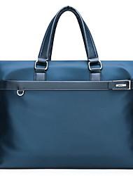 cheap -Men's Bags PU Leather Laptop Bag Briefcase Top Handle Bag Belt Zipper Handbags Daily Black Blue