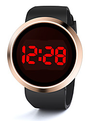 cheap -Couple's Sport Watch Digital Black / White No Chronograph New Design Alarm Clock Digital Outdoor New Arrival - Black White One Year Battery Life