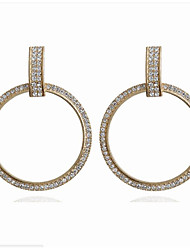 cheap -Women's Clear Cubic Zirconia Drop Earrings Classic Lucky Simple Dangling Trendy Fashion Modern Imitation Diamond Earrings Jewelry Gold / Silver For Gift Daily Street Holiday Club 1 Pair