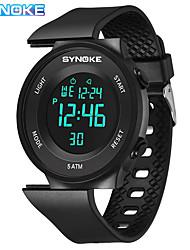 Недорогие -SYNOKE электронные часы Цифровой Спортивные Стильные силиконовый 30 m Защита от влаги Календарь ЖК экран Цифровой На открытом воздухе Мода - Черный Черный / Белый Белый