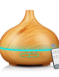 cheap -Wood Grain 400ML Aroma Humidifier / Remote Aroma Diffuser / LED Colorful Aromatherapy Lamp / Remote Humidifier Full Wood Grain