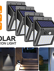 cheap -WAZA 40 LED SOLAR POWER LAMP PIR MOTION SENSOR 1/2/4PCS SOLAR GARDEN LIGHT OUTDOOR WATERPROOF ENERGY SAVING WALL SECURITY LAMP