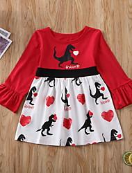 cheap -Baby Girls' Basic Geometric Print Long Sleeve Dress Black